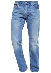 Gap Straight Fit Straight Leg Jeans Bright Medium Dark Blue Denim