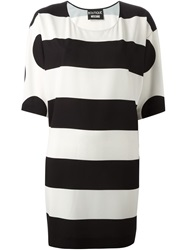 Boutique Moschino Stripe And Polka Dot Tunic Black
