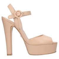 c7ecc8fa674 Kurt Geiger London Molton Block Heel Platform Sandals Nude Leather