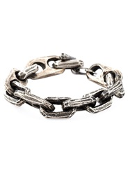 Henson Etched Chain Bracelet Metallic