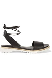 Rebecca Minkoff Lindy Leather Sandals Black