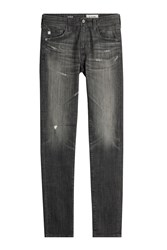 Ag Adriano Goldschmied Distressed Straight Leg Jeans Gr. 32