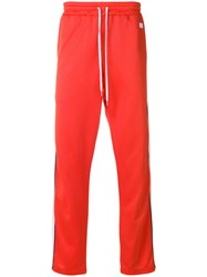 Ami Alexandre Mattiussi Track Pants With Contrasted Bands Red