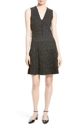 Kate Spade Women's New York Stripe Fit And Flare Sweater Dress