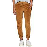 Nsf Sayde Cotton Blend Velour Sweatpants Gold