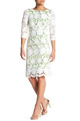 Sue Wong 3 4 Sleeve Lace Dress Green