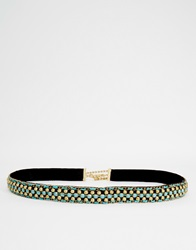 New Look Indian Beaded Sash Chain Belt Greenpattern