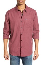 Men's Hurley 'One And Only 2.0' Regular Fit Woven Shirt Mahogany Red