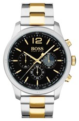Boss Men's Professional Chronograph Bracelet Watch 42Mm Black Stainless
