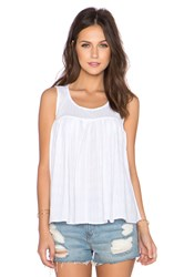 Bcbgeneration Shirred Babydoll Top White