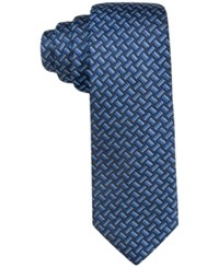 Alfani Men's Bates Geo Slim Tie Only At Macy's Blue