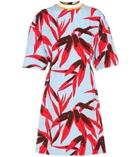 Marni Printed Cotton And Linen Blend Dress Multicoloured