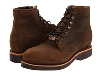Chippewa 6 Apache Steel Toe Lace Up Chocolate Men's Work Boots Brown