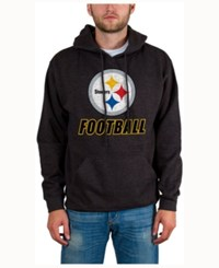 Junk Food Men's Pittsburgh Steelers Wing T Formation Hoodie Heather Charcoal