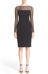 St. John Women's Collection Sequin Embellished Shimmer Milano Knit Dress