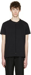 Craig Green Black Lace Up Collar T Shirt