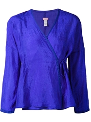 Dosa Side Tie Top Blue