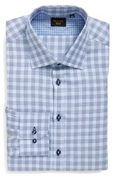 Men's Sand Trim Fit Plaid Dress Shirt