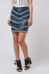 Faux Leather Fringe Skirt By Goldie Blue