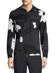 3.1 Phillip Lim Floral Printed Shirt Soft Black