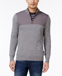 Barbour Men's Teflon Coated Quarter Zip Sweater Grey