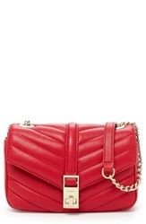 Botkier Dakota Quilted Leather Crossbody Bag Red