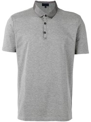 Lanvin Satin Collar Polo Shirt Men Cotton Polyester Viscose Xl Grey