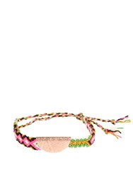 Lucy Folk Taco Gold Plated Friendship Bracelet Rose Gold