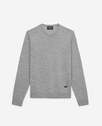 The Kooples Grey Slim Fit Wool And Cashmere Sweater Insert