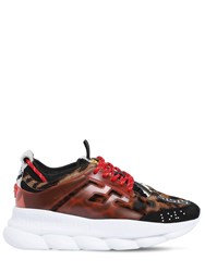 Versace Chain Reaction Ponyskin Sneakers Multicolor