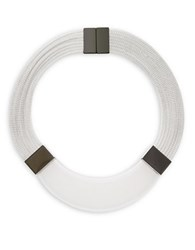 Lafayette 148 New York Magnetic Collar Necklace Clear White
