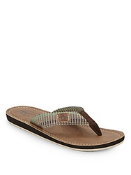 Original Penguin Del Mar Woven Thong Sandals Brown