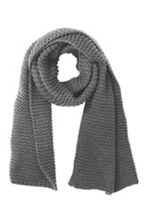 Do Everything In Love Oversized Knit Scarf Gray