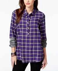 G.H. Bass And Co. Colorblock Sleeve Plaid Shirt