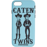 Dsquared2 Blue 'Caten Twins' Iphone 8 Case