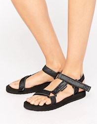 Vero Moda Side Buckle Sandals Black