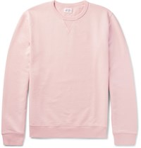 Hartford Melange Loopback Cotton Jersey Sweatshirt Pink