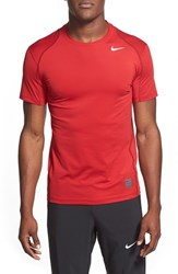 Men's Nike 'Pro Cool Compression' Fitted Dri Fit T Shirt Gym Red White