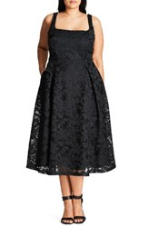 City Chic Plus Size Women's Jackie O Lace Fit And Flare Dress
