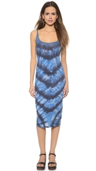 Raquel Allegra Layering Tank Dress Blue Tie Dye