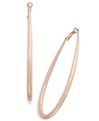 Thalia Sodi Diamond Cut Teardrop Hoop Earrings Only At Macy's Rose Gold