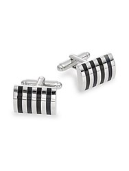 Saks Fifth Avenue Striped Cuff Links No Color