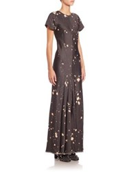 Alexander Wang Splatter Printed Gown Grey