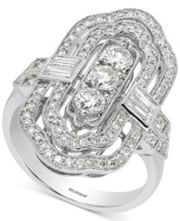 Effy Pave Classica By Diamond Statement Ring 1 1 5 Ct. T.W. In 14K White Gold