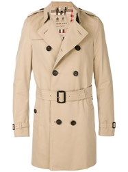 Burberry Chelsea Trench Coat Cotton Viscose Brown