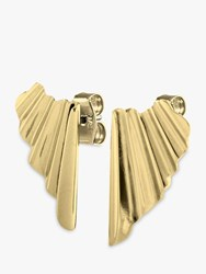 Dyrberg Kern Blida Pleated Drop Earrings Gold
