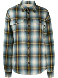 Dsquared2 Checked Trucker Shirt Blue