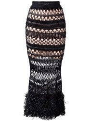 Jean Paul Gaultier Vintage Long Crochet Skirt Black
