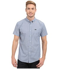 Brixton Central Short Sleeve Woven Chambray Light Blue Chambray Men's Clothing