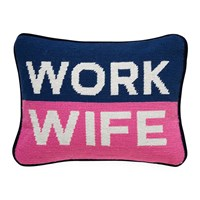 Jonathan Adler Uk Needlepoint Personality Pillow Work Wife